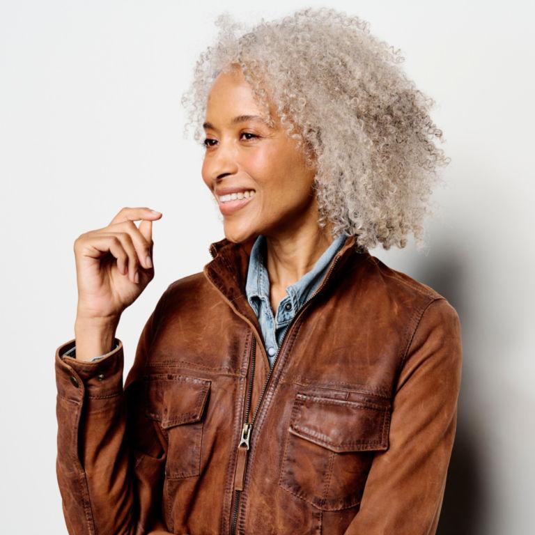Latitude Leather Jacket - BRONZE image number 4