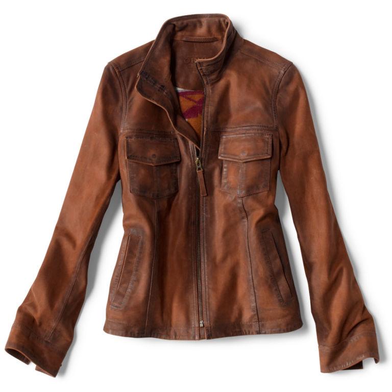 Latitude Leather Jacket - BRONZE image number 0