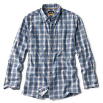 Indigo Tech Plaid Shirt -  image number 0