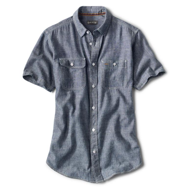 Hemp/Organic Cotton Chambray Short-Sleeved Shirt -  image number 0
