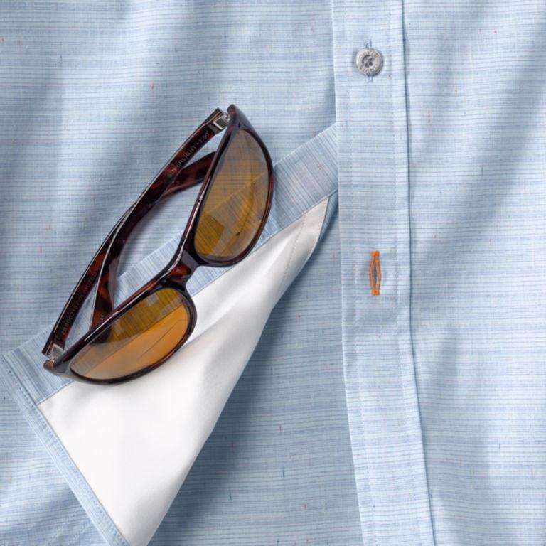 Striped Work Shirt - BLUE image number 1