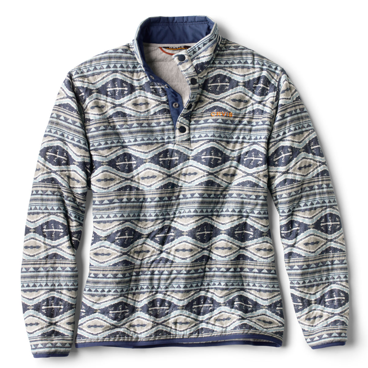 Outdoor Quilted Snap Sweatshirt - BLUE/MULTIimage number 0