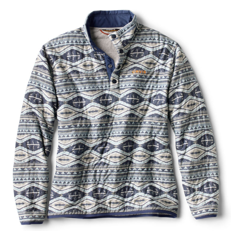 Outdoor Quilted Snap Sweatshirt - BLUE/MULTI image number 0