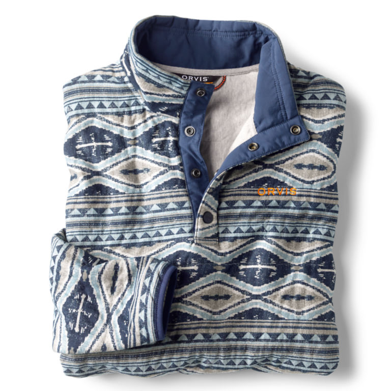 Outdoor Quilted Snap Sweatshirt - BLUE/MULTI image number 1