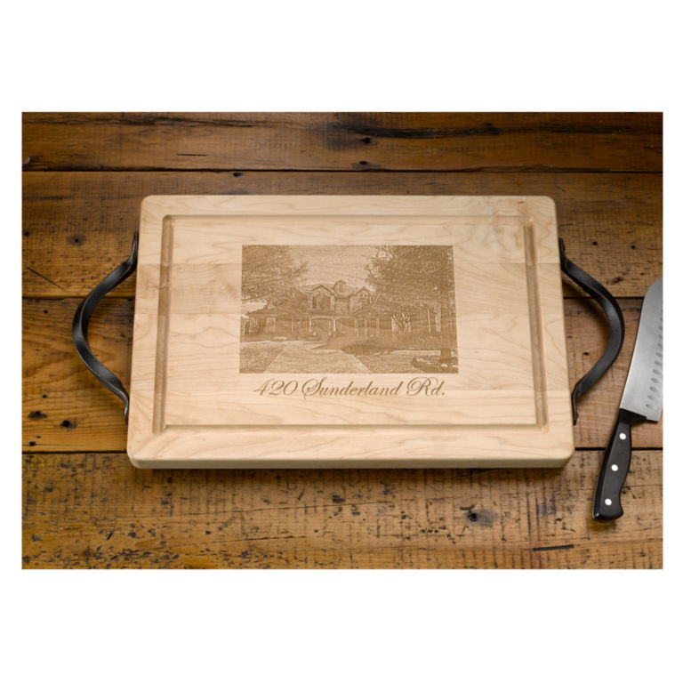 Personalized Etched House Cutting Board -  image number 0