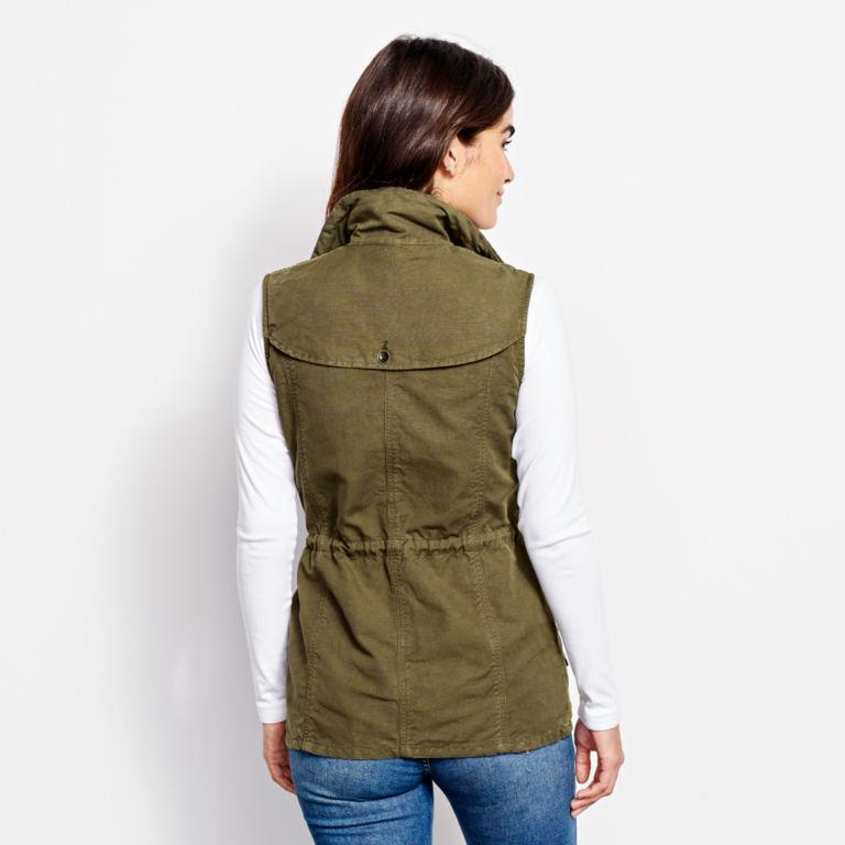 Linen/Cotton Utility Vest - TARRAGON image number 2