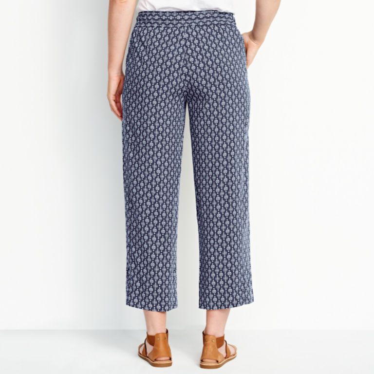 Rayon Wide-Leg Cropped Pants -  image number 2