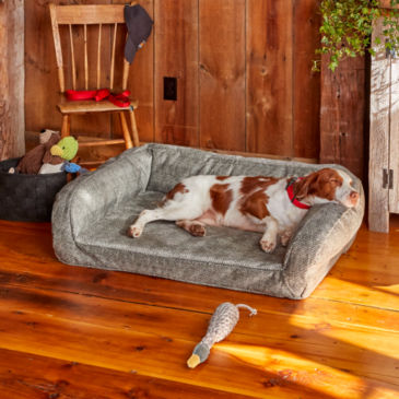 ToughChew®  Memory Foam Bolster Dog Bed -