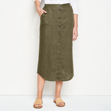 Orvis Performance Linen Button-Front Skirt -  image number 0