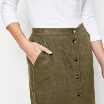 Orvis Performance Linen Button-Front Skirt -  image number 3