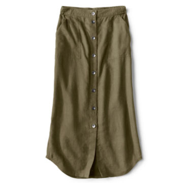 Orvis Performance Linen Button-Front Skirt -  image number 4