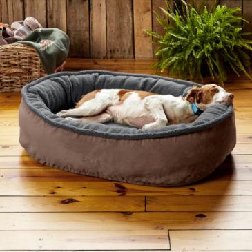 ComfortFill-Eco™ Wraparound Dog Bed with Fleece
