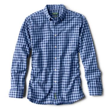 Heritage Poplin Long-Sleeved Shirt - NAVY CHECK