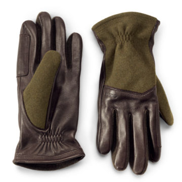 Melton Wool and Leather Gloves -  image number 0