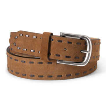 Laced Edge Suede Belt -