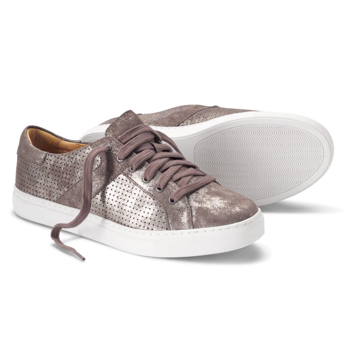 Trask®  Lindsey Metallic Sneakers - PEWTERimage number 0
