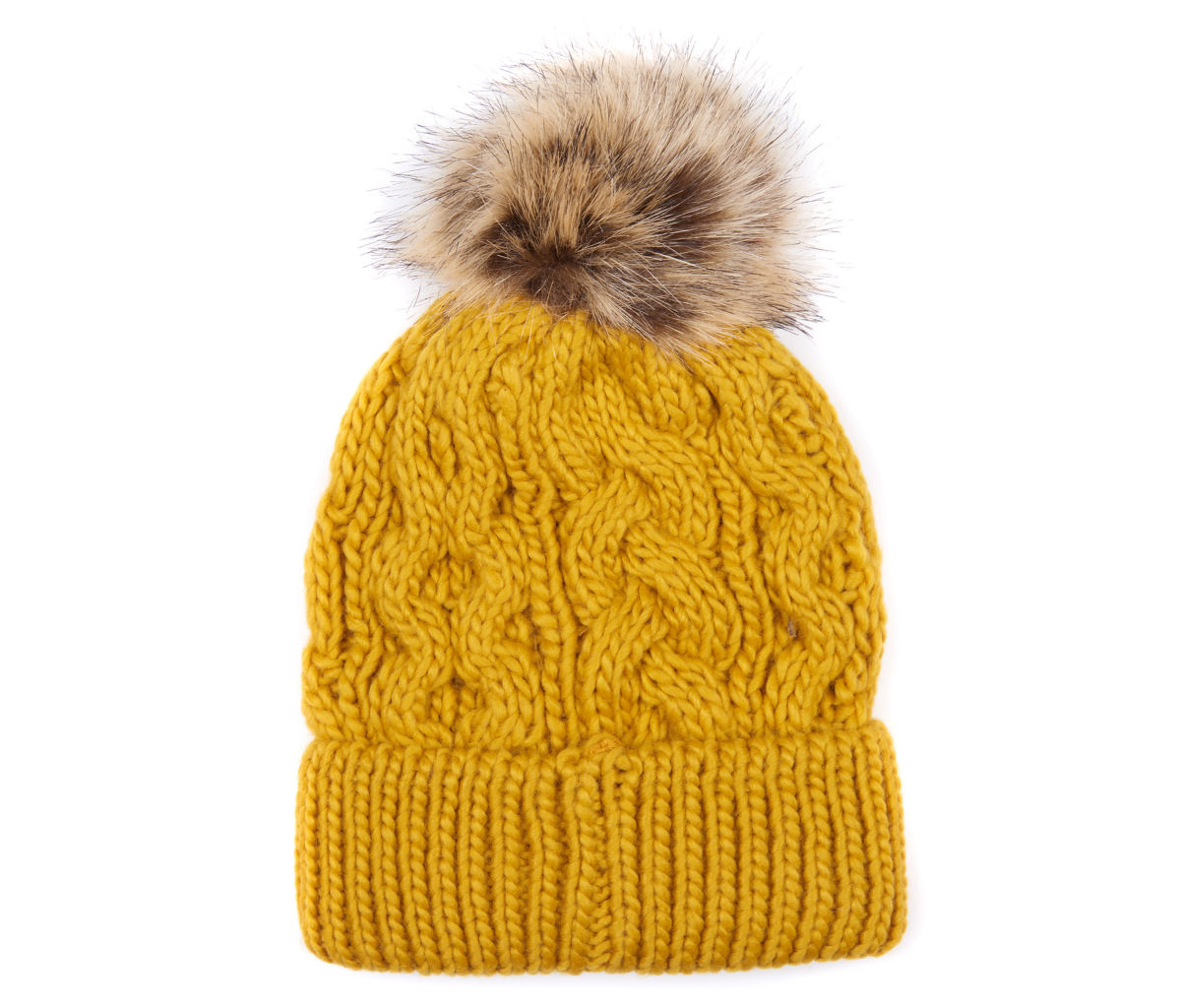 Barbour® Penshaw Cable Beanie - OCHREimage number 0