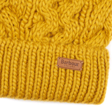 Barbour® Penshaw Cable Beanie - OCHRE image number 1