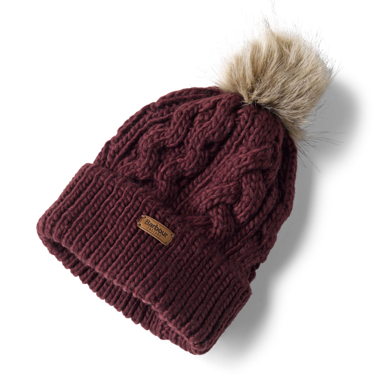 Barbour®  Penshaw Cable Beanie - BORDEAUXimage number 0