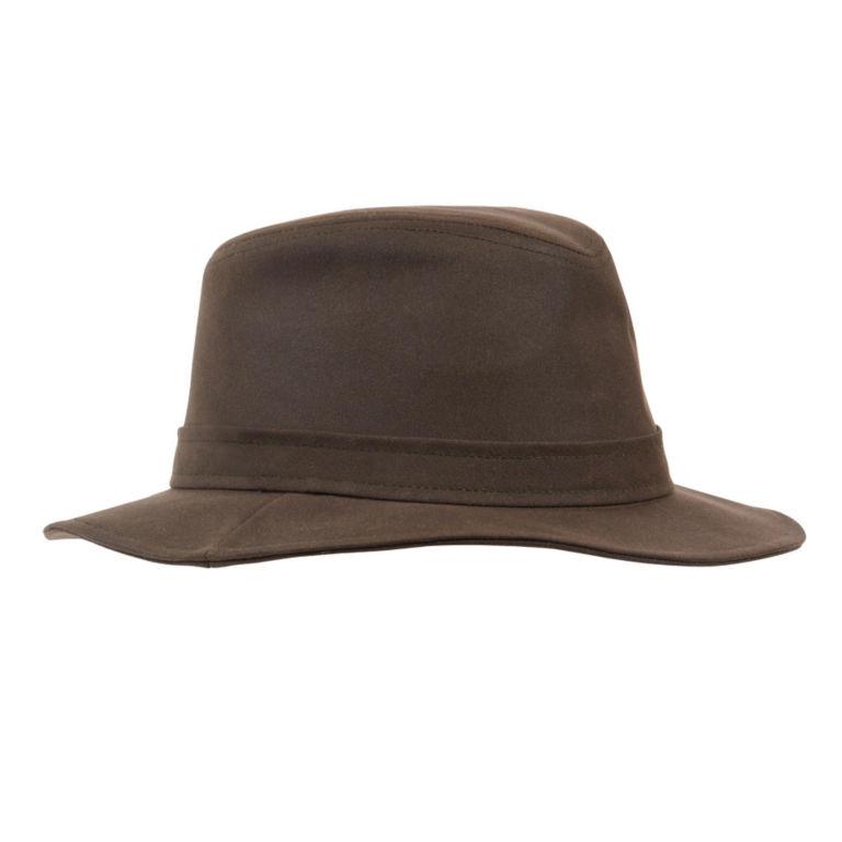 Barbour® Vintage Wax Bushman Hat - OLIVE image number 1