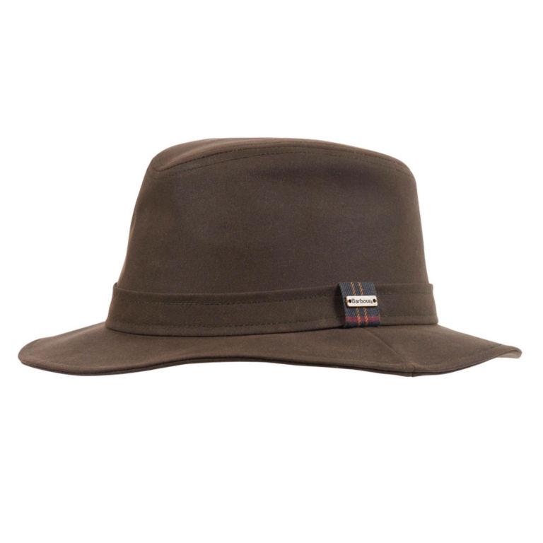Barbour® Vintage Wax Bushman Hat - OLIVE image number 0