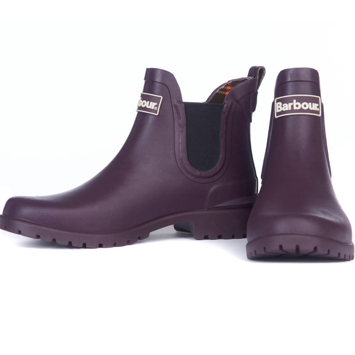 Barbour® Wilton Wellington Low-Top Boots - EGGPLANTimage number 0