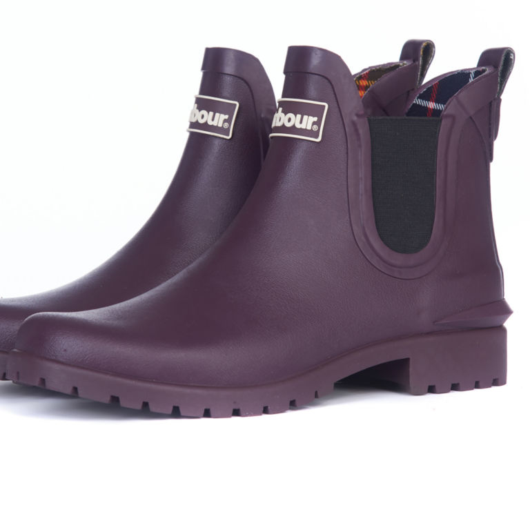 Barbour® Wilton Wellington Low-Top Boots - EGGPLANT image number 1