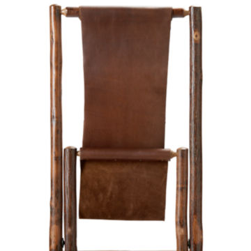 Hickory and Leather Sling Chair -  image number 1