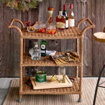 Wicker Bar Stand -  image number 1