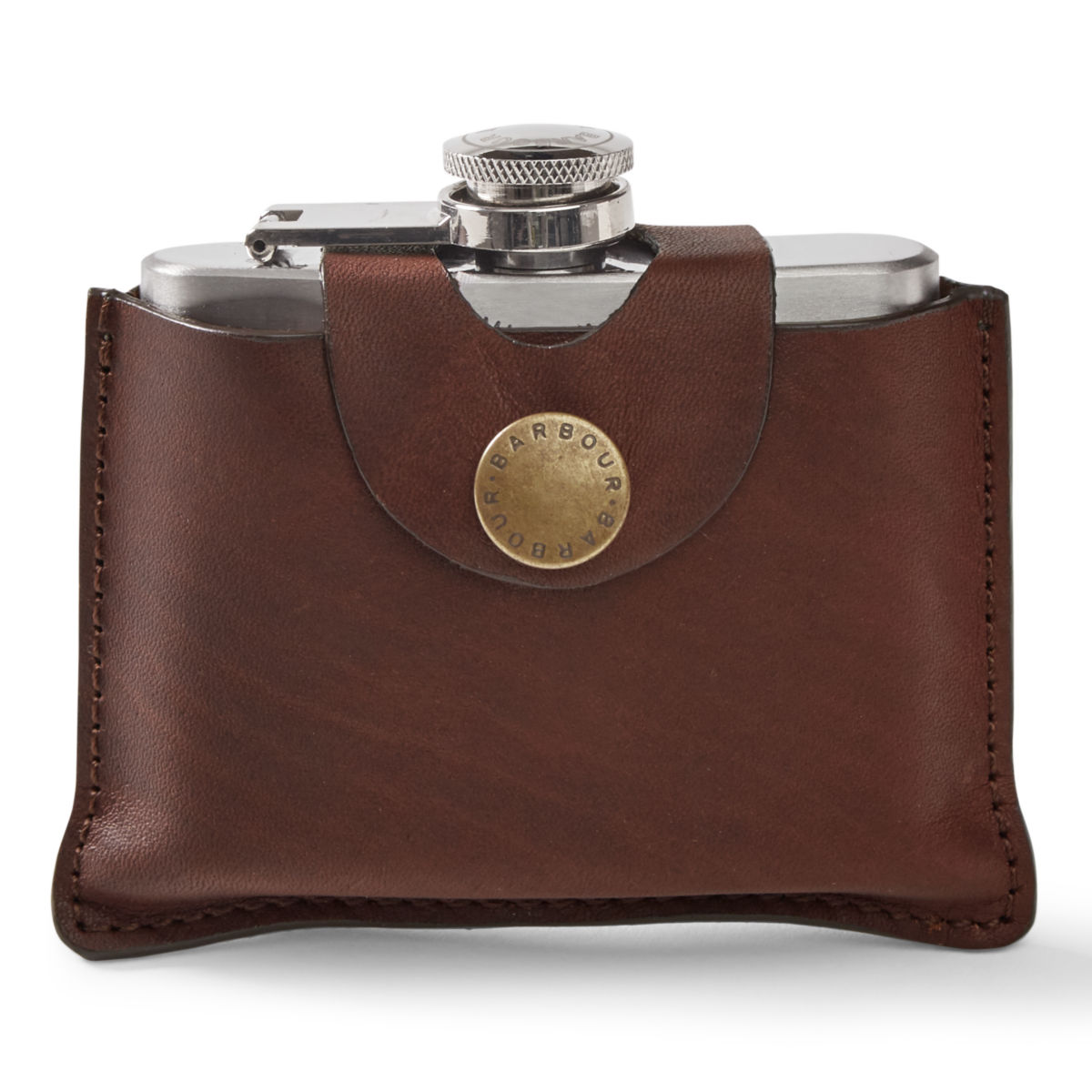 Barbour®  5 oz. Hinged Hip Flask - image number 0