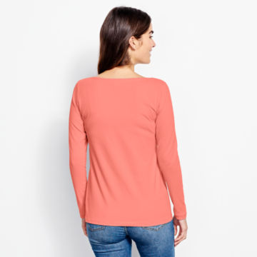 Classic Cotton Solid Boatneck Tee -  image number 2