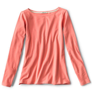 Classic Cotton Solid Boatneck Tee -  image number 3