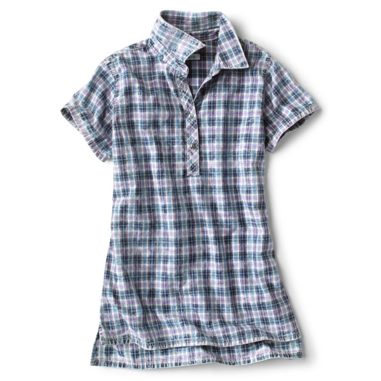 Washed Indigo Short-Sleeved Shirt -  image number 0