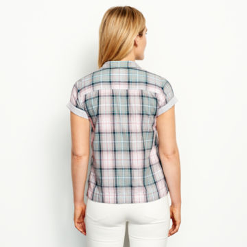 Double-Faced Print Detail Short-Sleeved Shirt -  image number 2