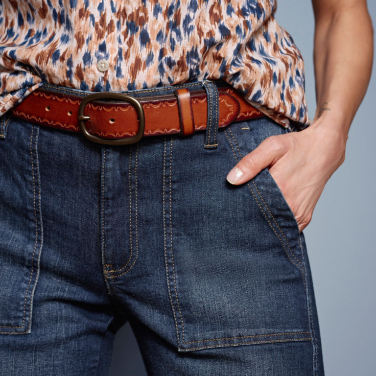 Orvis Wide Leg Cropped Jean -  image number 4
