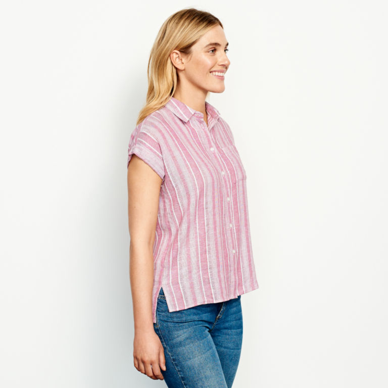 Linen-Blend Dolman Camp Shirt -  image number 2