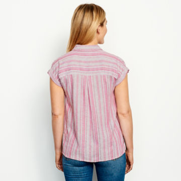 Linen-Blend Dolman Camp Shirt -  image number 3