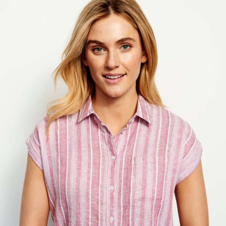 Linen-Blend Dolman Camp Shirt -  image number 4