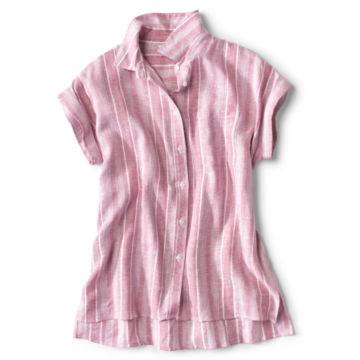 Linen-Blend Dolman Camp Shirt -  image number 0