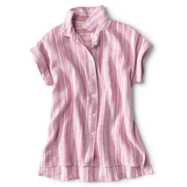Linen-Blend Dolman Camp Shirt -