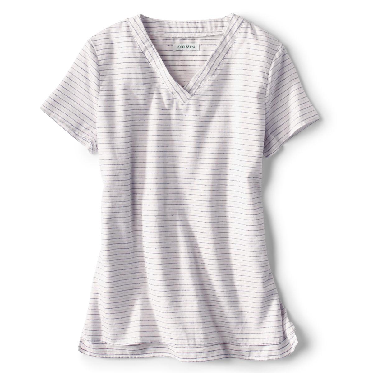 Short-Sleeved Textured Stripe Shirt - image number 0