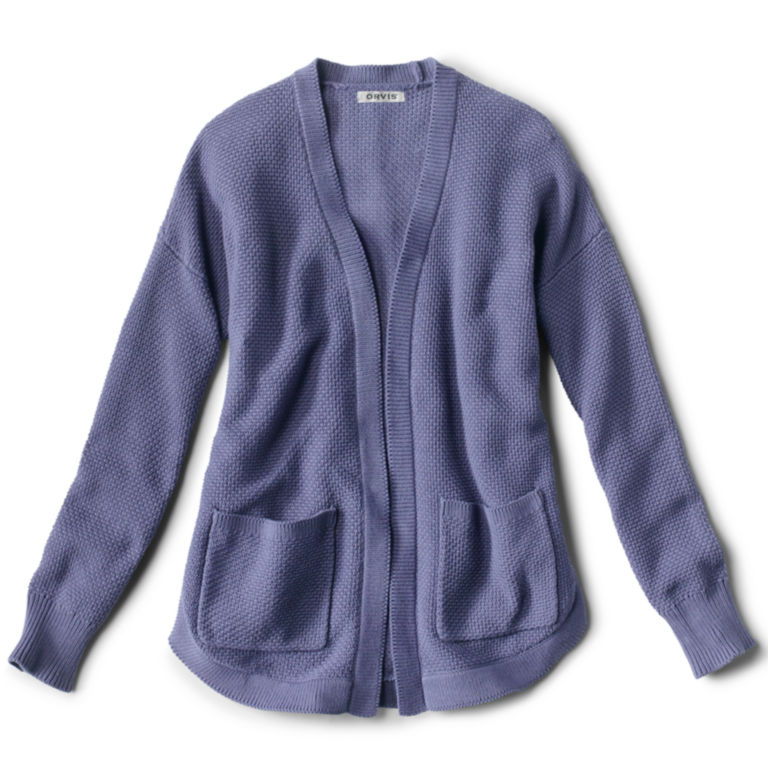 Seed Stitch Cardigan - REGATTA BLUE image number 0