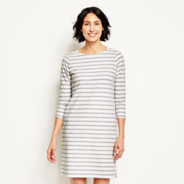Classic Cotton Striped Tee Dress -  image number 0
