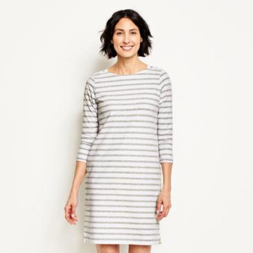 Classic Cotton Striped Tee Dress -