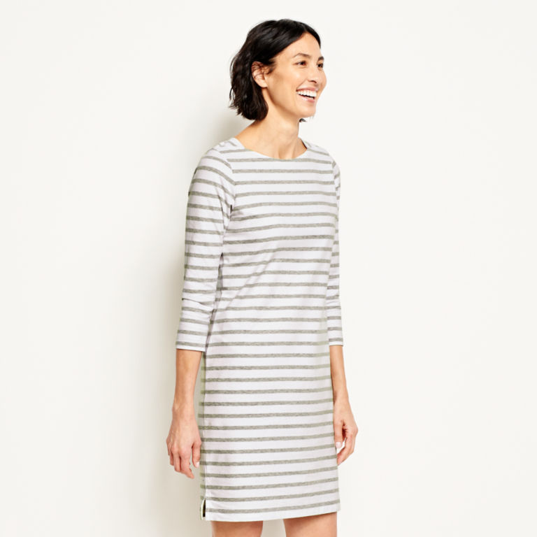 Classic Cotton Striped Tee Dress -  image number 1