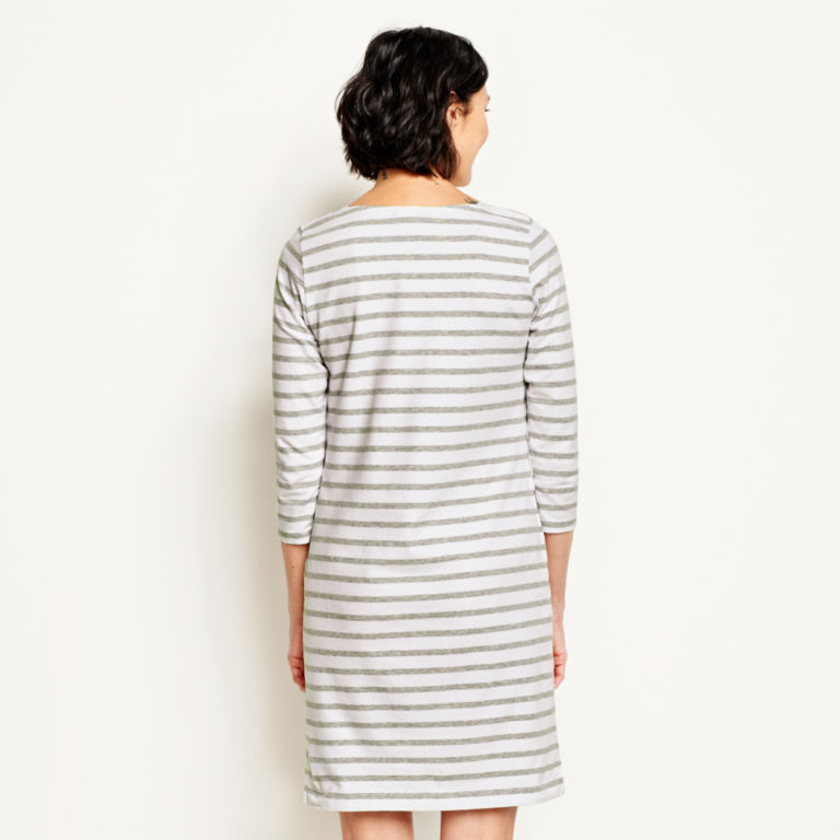 Classic Cotton Striped Tee Dress -  image number 2