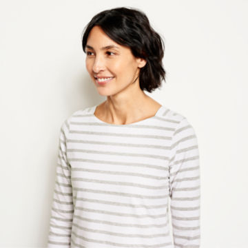 Classic Cotton Striped Tee Dress -  image number 3
