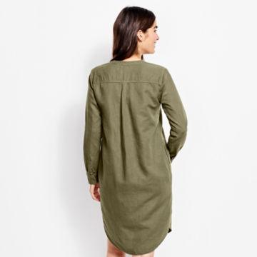 Linen/Cotton Garment-Dyed Dress - OLIVE image number 3