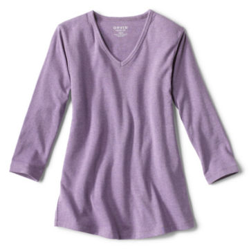 Relaxed V-Neck Three-Quarter-Sleeved Perfect Tee -  image number 4