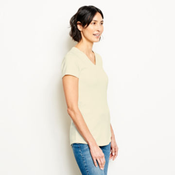 Relaxed V-Neck Short-Sleeved Perfect Tee -  image number 1